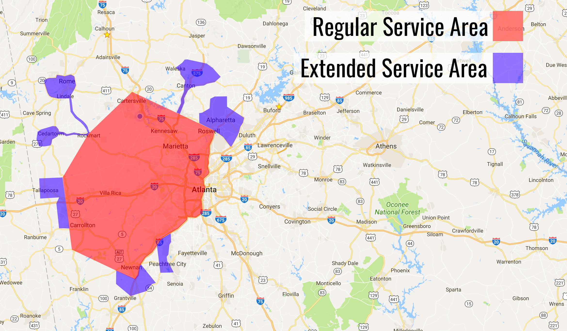 E Dennis Service Areas